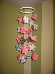 Paper Flower Mobiles Origami Flower Baby Mobile Fold The Oragami Flowers Then