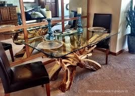 dining room table glass inlay. modern organic table dining room glass inlay m
