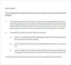 Sample Proposal Letter For Consultancy Services Consulting