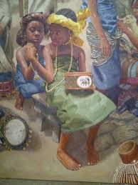nigerian artist orese olumide his oil on canvas paintings