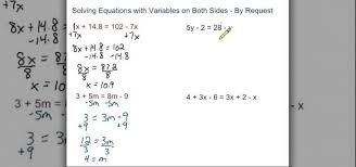 how to solve equations with variables on both sides math wonderhowto