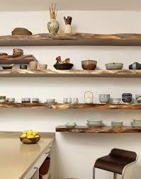 Raw Wood Floating Shelves