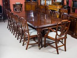 Antique Victorian Mahogany Dining Table  Shieldback Chairs - Shield back dining room chairs