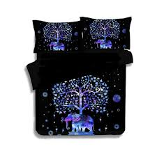 luxury indian style bedding elephant mandala bedding set 2 3pc printed duvet cover linens pillowcase duvet cover bedspreads