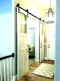 sliding door laundry room ultimate hallway e saving solution a handmade sliding barn door