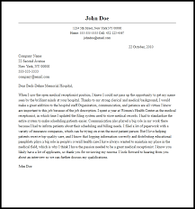 medical receptionist cover letter must haves medical receptionist cover letter sample