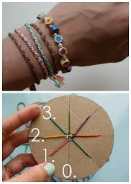 how to make friendship bracelets for beginners beautiful diy woven friendship bracelet using a circular cardboard