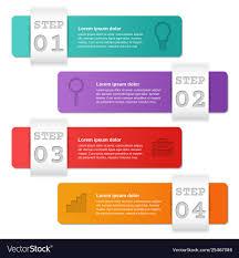 Infographics Templates 4 Option Parts Steps