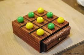 Wooden Board Games Plans Marble TicTacToe Game 72