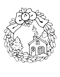 Christmas Houses Coloring Pages Candy House