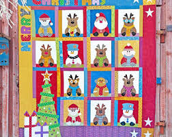 House quilt pattern | Etsy & Santa's House Quilt Pattern | Quilt Patterns | PDF Quilt Pattern |  Christmas Quilt | Christmas Adamdwight.com