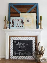 Small Picture Fireplace Mantel Decorating