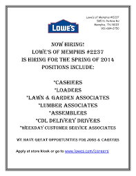 ... Lowes Job Application 23 | january | 2014 | job & career news from the  memphis ...
