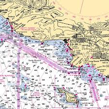 California Nautical Charts California Los Angeles Nautical Chart Decor