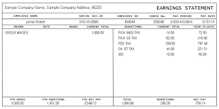 Unit 2 Lesson 1 Pay Stub Example Payroll Template