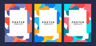 Cool And Colorful Poster Template Vector Free Download