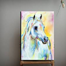 dream colors shy horse oil painting on canvas 100 hand painted abstract horse portrait mare oil painting for wall decoration in painting calligraphy from