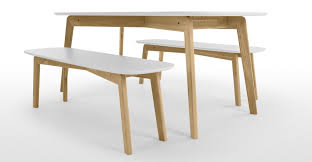 dining tables chic dante dining table bench set oak and white cushion rectangle for captivating furniture
