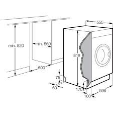 Standard Washing Machine Width Zanussi Integrated 7kg Washing Machine Zwi71201wa Aocom