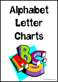 Alphabet Letter Charts Tas Print