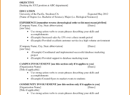 Resume Only One Job One Job Resume Template Writing The Perfect New Format Cv Outline 47