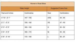 Womens Bike Sizes A Simple Guide Best Road Bike Road