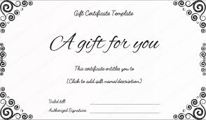 gift card template gift voucher certificate template business gift certificates