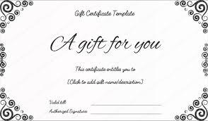 Gift Voucher Certificate Template Business Gift Certificates