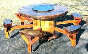 round wood picnic table large wooden picnic table ideas large round wooden picnic table