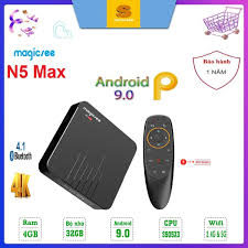 Có video] Android Tivi Box Magicsee N5 MAX Ram 4GB - Rom 32GB - Chip S905X3-  Bluetooth 4.1- USB 3.0 - Model 2020 Chíp S905X3