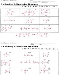 Lewis Structure Worksheets With Answers Lewis Structure Worksheet With Answers Briefencounters