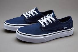 vans shoes for boys. vans brigata boys shoes blue for