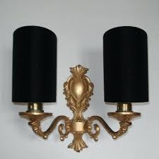 small lamp shades for wall lights taffeta in black handmade candle clip half shield shade 1