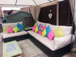 diy patio furniture cushions. make your own sectional outdoor patio furniture with colorful cushions diy black long wooden u