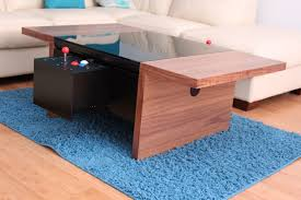 walnut 2 player arcade coffee table