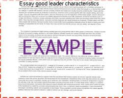 essay good leader characteristics college paper help essay good leader characteristics essay characteristics good on leader si je revise demain matin