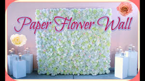 how to set up a 8x8 ft paper flower backdrop for wedding or any event