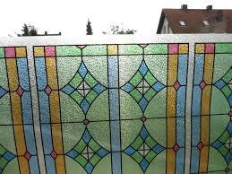 Fensterfolie Abbey Bunt Statische Folie Kirchenfenster Vintage Look