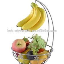 stainless steel fruit basket. Delighful Stainless Stainless Steel Fruit Basket With Banana Hanger In M