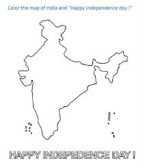 Map Of India Coloring Printable Page For Kids