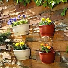 wall flower pot hanging basket planter flower pots plastic wall hanging multi colors storage pots home garden decorative in flower pots planters from wall