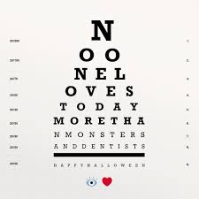Are All Eye Charts The Same And Sometimes Theyre The Same Thing Happy Halloween