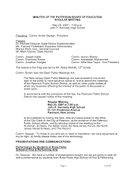 MINUTES OF THE PATERSON BOARD OF EDUCATION REGULAR MEETING May 23, 2007 –  7:00 p.m. John F. Kennedy High School Presiding: Co