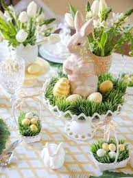easter table centerpieces