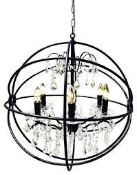 iron globe chandelier nice round black chandelier round black wrought iron globe wrought iron orb chandelier