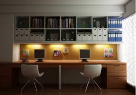 cool home office furniture. Marvelous Cool Home Ideas With Bestar Harmony Shaped Desk And Wall Mount  Storage Cubes Cool Home Office Furniture