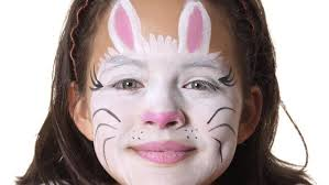 how can you paint your face to look like a bunny