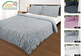 ruched quilt cover set charcoal white silver pink double queen king