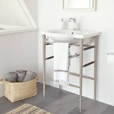 bathroom console sink for unique standing design ideas lavatory with chrome legs american standard console