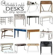 14 stylish and affordable desks for your home! Get the sources at diy